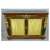 Regency style mahogany glass-door cabinet