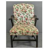 George III style mahogany library armchair
