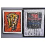 2 Contemporary framed works