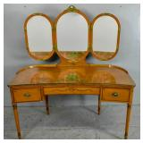Edwardian style satinwood reniform dresser
