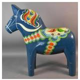 South American painted wood donkey
