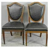 Companion pair of mahogany shield back side chairs