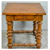 Jacobean style walnut side table