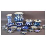 Group of Asian blue and white porcelain