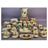 Franciscan everyday ceramic apple-motif dinner set