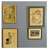 Group of 4 Asian prints
