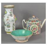 Chinese porcelain vase;