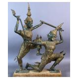 Thai bronze figural dancers
