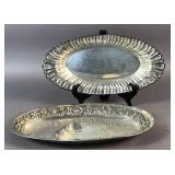 Sterling silver repousse bread dish;
