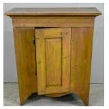 American stained pine side cabinet