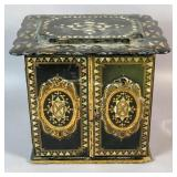 Victorian papier mache & mother-of-pearl box