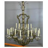 Louis XV style metal & crystal palace chandelier