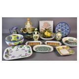 Group of Italian pottery table wares