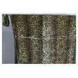 Donna Karan chenille leopard print head band;