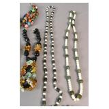 Group lot of costume jewelry necklaces