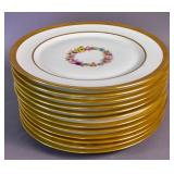 Set of 12 Limoges service plates