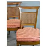 Set of 4 Transitional style fruitwood side chairs