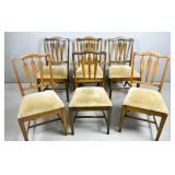 6 Chippendale style mahogany dining chairs