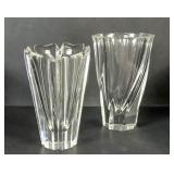 2 Orrefors crystal vases