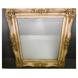 Rococo style white painted mirror