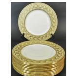 Set of 12 Lenox porcelain service plates