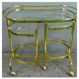 Gilt-metal drinks cart