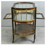 Mahogany & brass drinks cart
