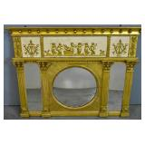 Regency style gilt-decorated mirror