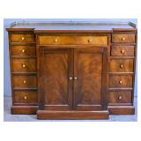 Georgian style mahogany breakfront side cabinet