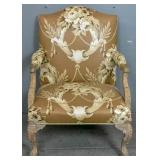 Georgian style upholstered armchair