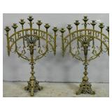 Pair of gilt-metal candelabra