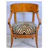 Biedermeier style walnut armchair