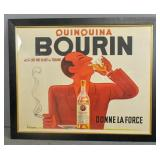 French Art Deco style Bourin poster