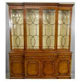 Georgian style mahogany breakfront bookcase