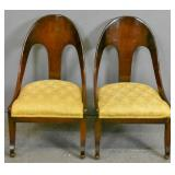 Pair of Regency style mahogany gondola chairs