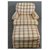 Thomasville upholstered lounge chair and ottoman