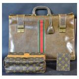 Gucci leather briefcase;