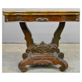 Victorian mahogany fold-over card table