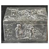 800 silver repousse box