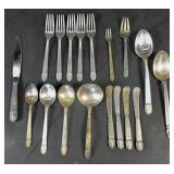 International sterling silver partial flatware set