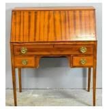 Edwardian style mahogany slant front desk