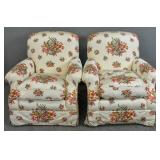 Pair of Contemporary upholstered club chairs