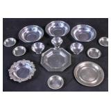 14 sterling silver dishes