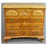 American Chippendale style pine chest