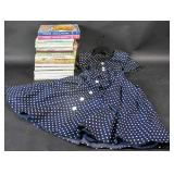Relive 1950; Group of cookbooks & polka-dot dress