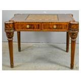 Maitland Smith mahogany & marquetry games table