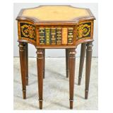 Maitland Smith leather top side table