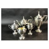 Sterling silver 5-piece tea and coffee set