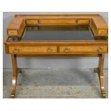 Carlton House walnut leather top desk