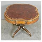 Regency style leather top table